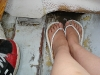 Where My Feet Were Situated In The Boat!