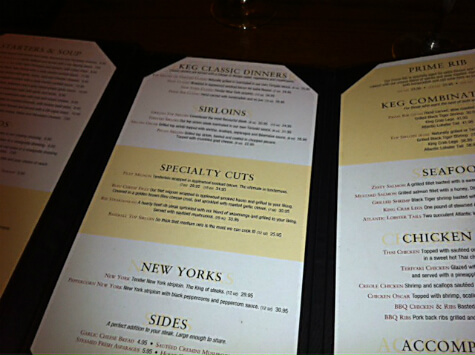 Keg Steakhouse Menu http://linda-hoang.com/review-the-keg/
