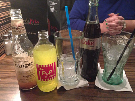Different sodas at Soda Jerks!