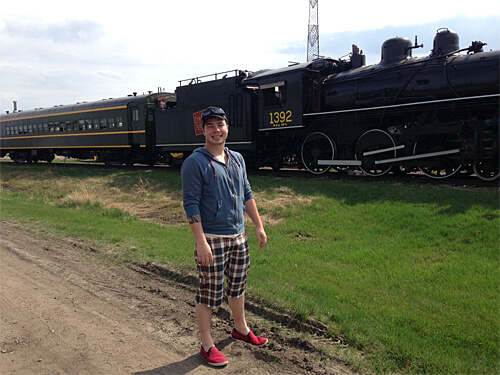 My date at the Alberta Railway Museum.