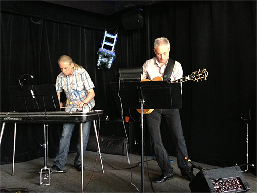 The Cramer Brothers - playing live music during Sunday brunch at Blue Chair Cafe.