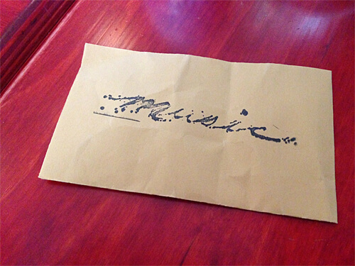 Envelope to give musicians money for their performance during brunch!