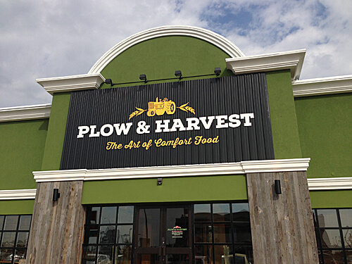 Plow & Harvest at 170 Street and Stony Plain Road.
