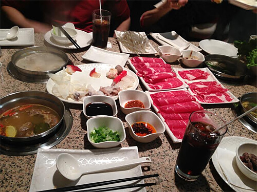 Getting our hot pot on at 97 Hot Pot.