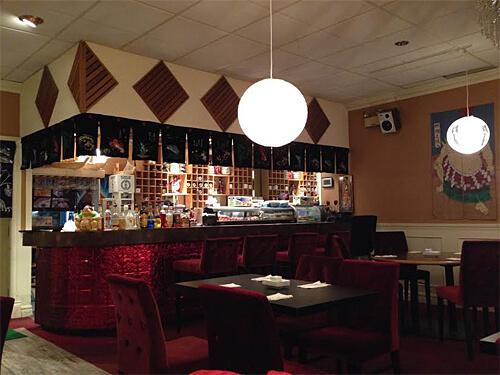 Inside Kenko Japanese Restaurant.