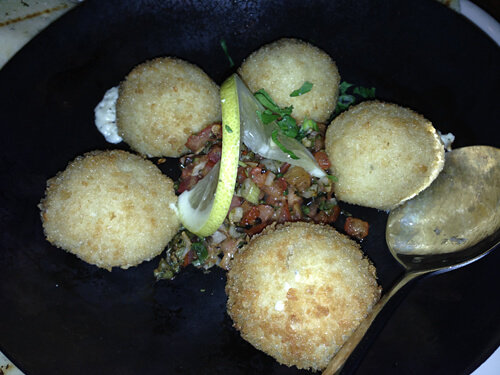 Feta balls at The Balkan.