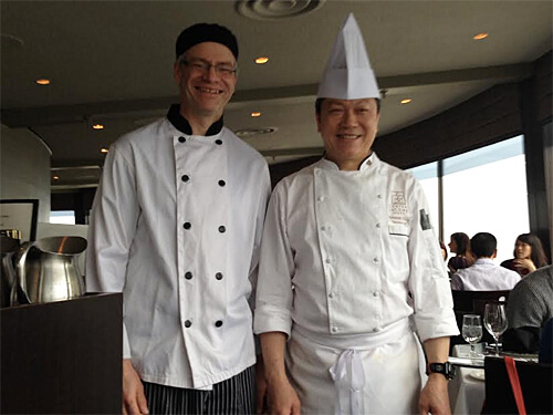 La Ronde's in-house pastry chef Scott Parker and executive chef Stephen Chung!