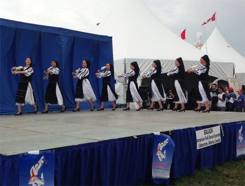 Romanian folk dancers at Heritage Festival!