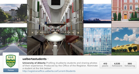 Edmonton Instagram - University of Alberta Students
