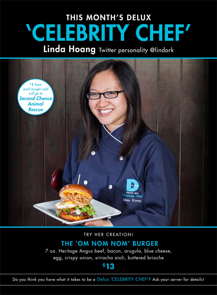 Linda Hoang Delux Burger Bar Celebrity Chef October