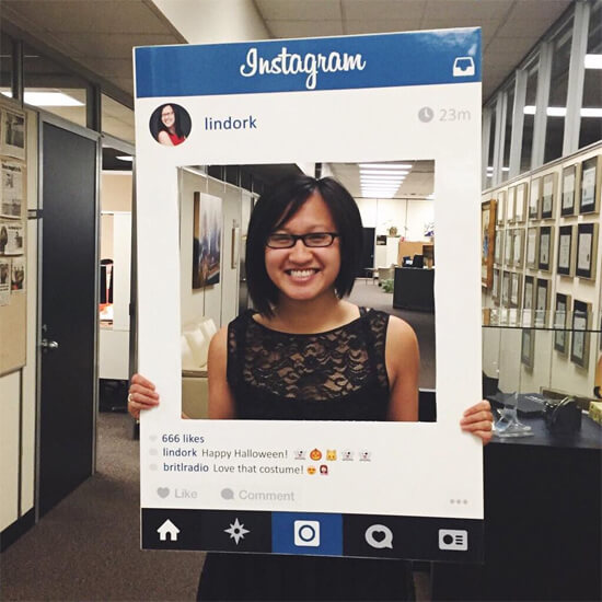 My Instagram Halloween costume was a hit!