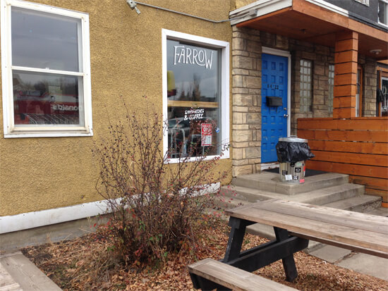 Farrow Sandwiches at 8422 109 Street - in the same building as Three Boars Eatery.