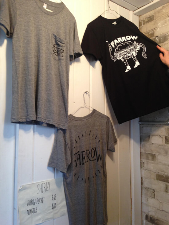 Farrow sells T-shirts too.