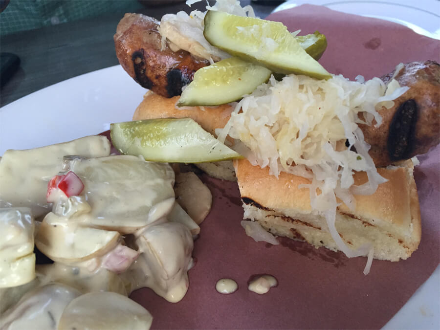 Pork Month Special: Pork and Foie Gras Bratwurst from Packrat Louie!
