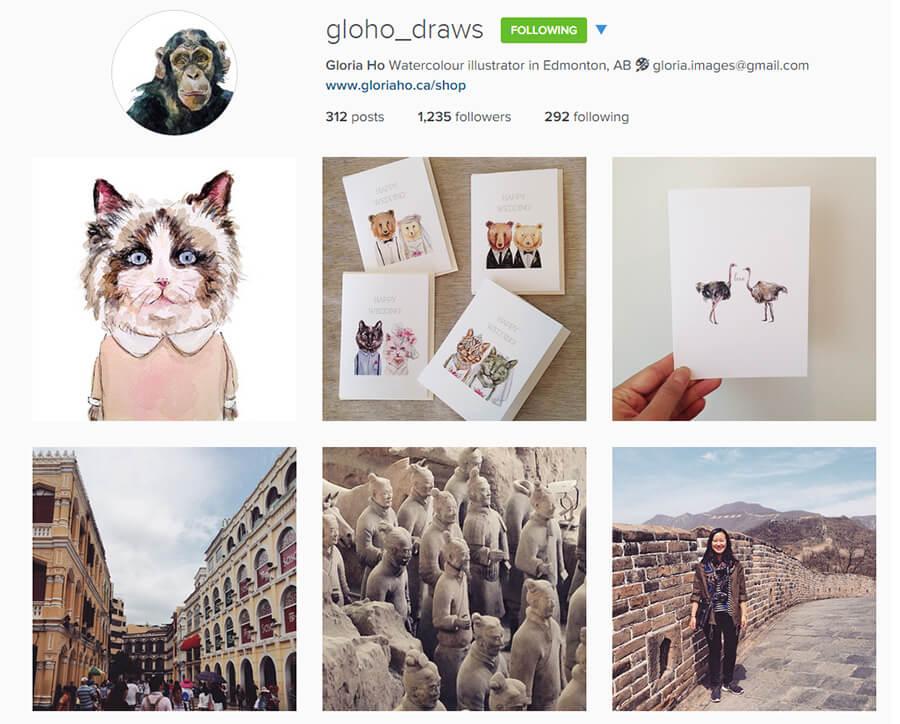 Edmonton Instagram Users - gloho_draws