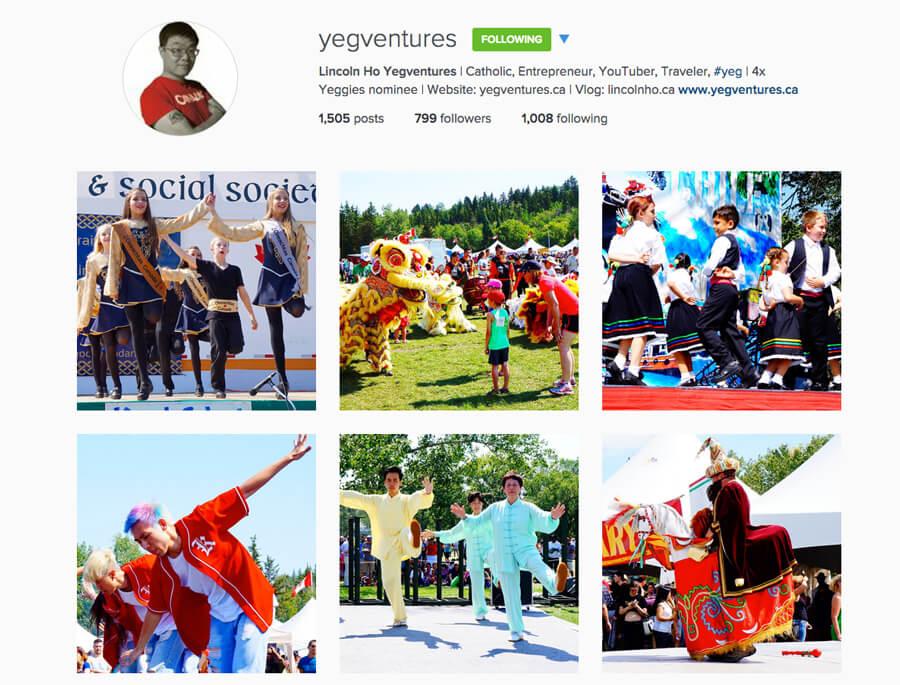 Edmonton Instagram Users - yegventures