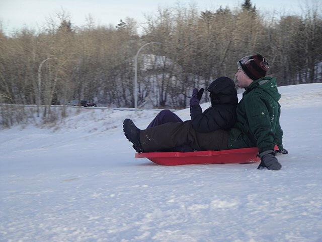 Go sledding!