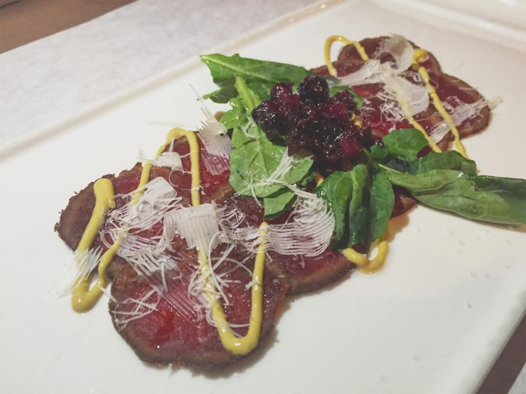 Mmm, that elk carpaccio!