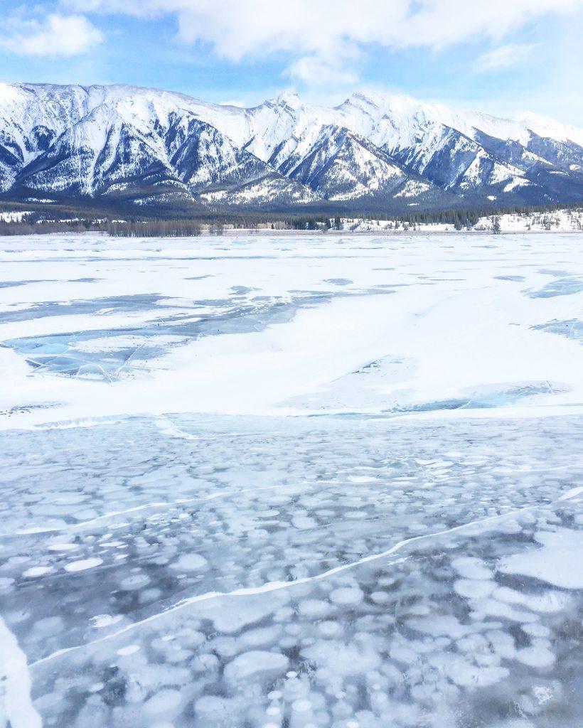 Abraham Lake Bubble Lake Explore Alberta Edmonton