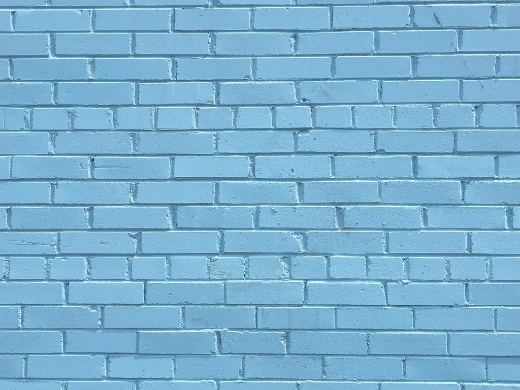 Instagrammable Wall - Blue Wall - Downtown