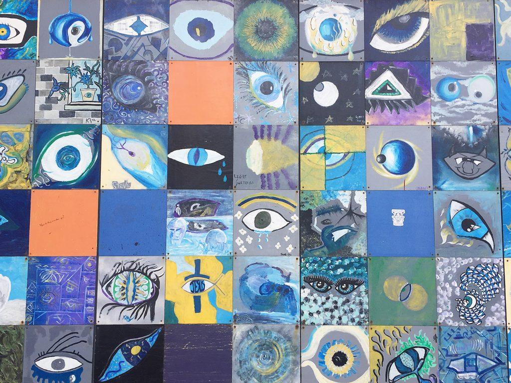Instagrammable Walls of Edmonton - Downtown - Eye Mural