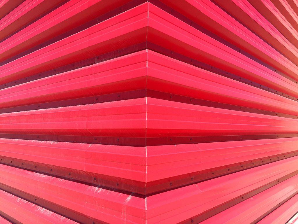 Instagrammable Walls of Edmonton - Red Wall West Edmonton Mall