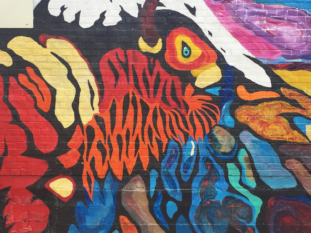 Instagrammable Walls of Edmonton - Thunder Bird Alley Chinatown