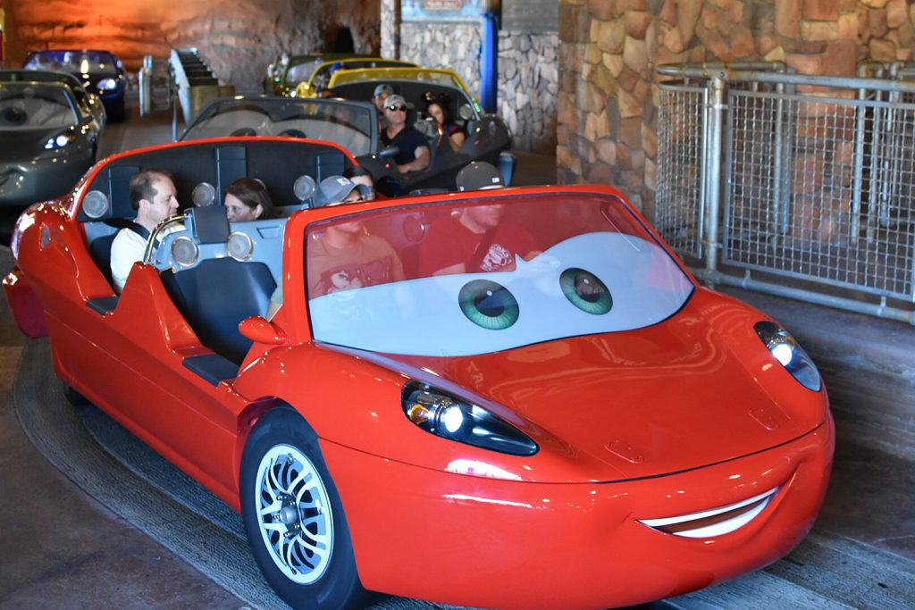 Disneyland California Adventure - Cars Land - Amusement Park Rides