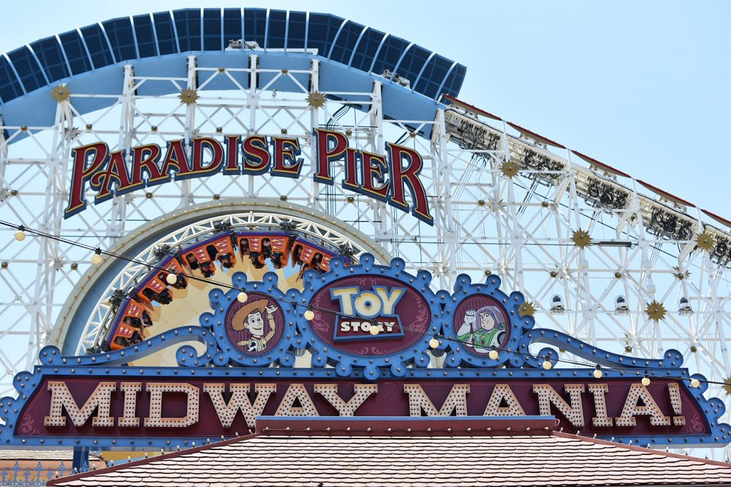 Disneyland California Adventure - Paradise Pier - Amusement Park Rides - California Screamer Toy Story