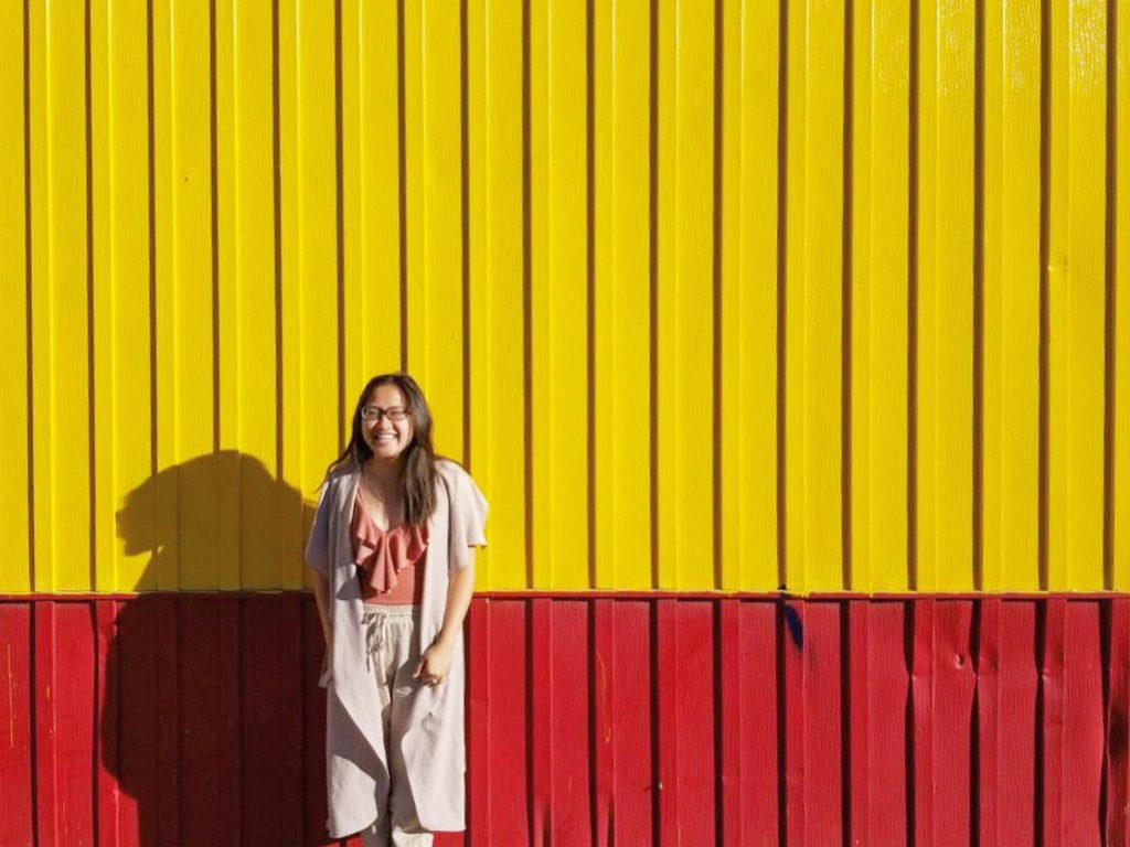 Instagrammable Walls of Calgary - Chicken on the Way - Yellow Wall