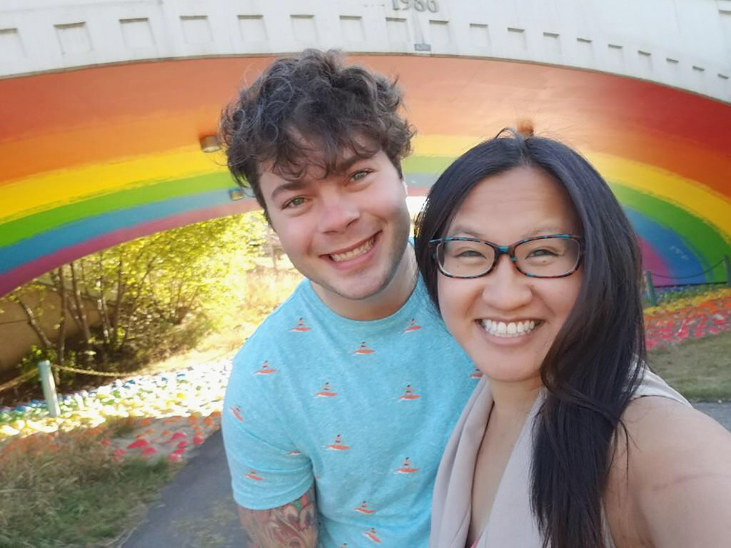 Instagrammable Walls of Calgary - Rainbow Underpass Sunnyside Bridge Pride