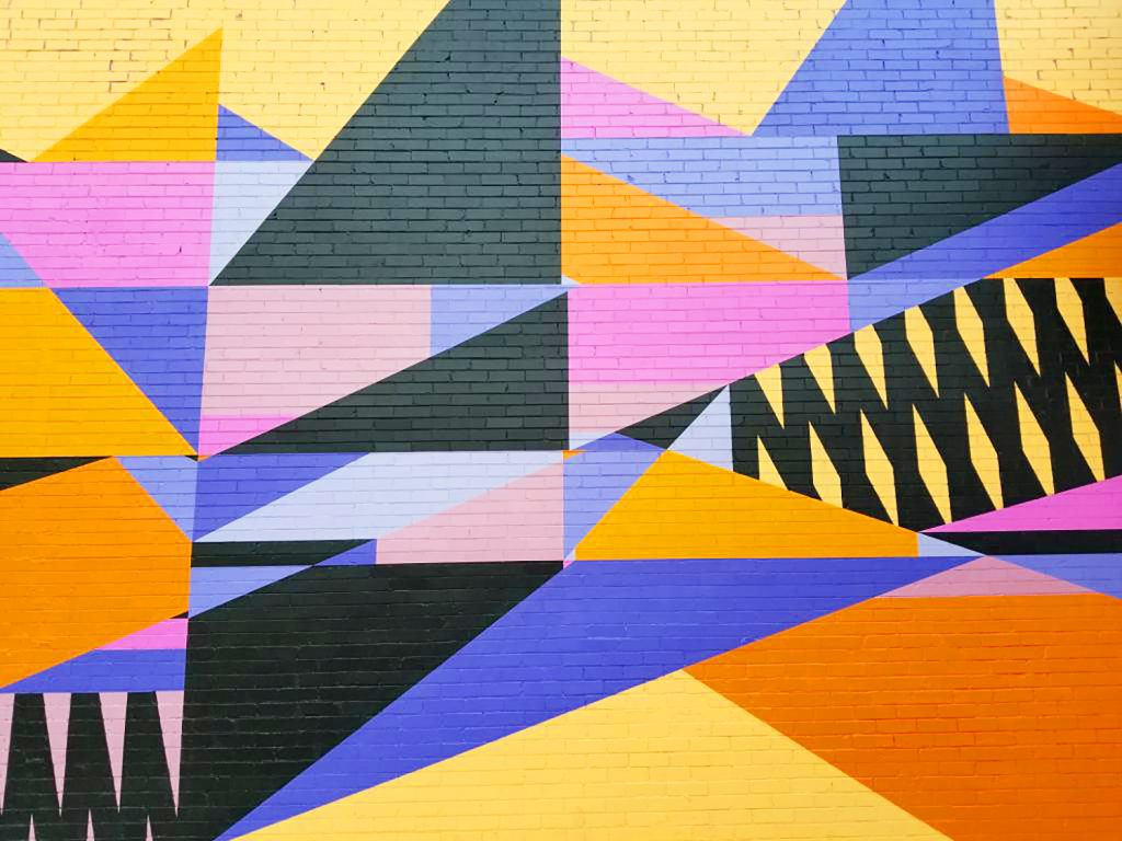 Instagrammable Walls of Calgary - Rhys Douglas Farrell Abstract Wall