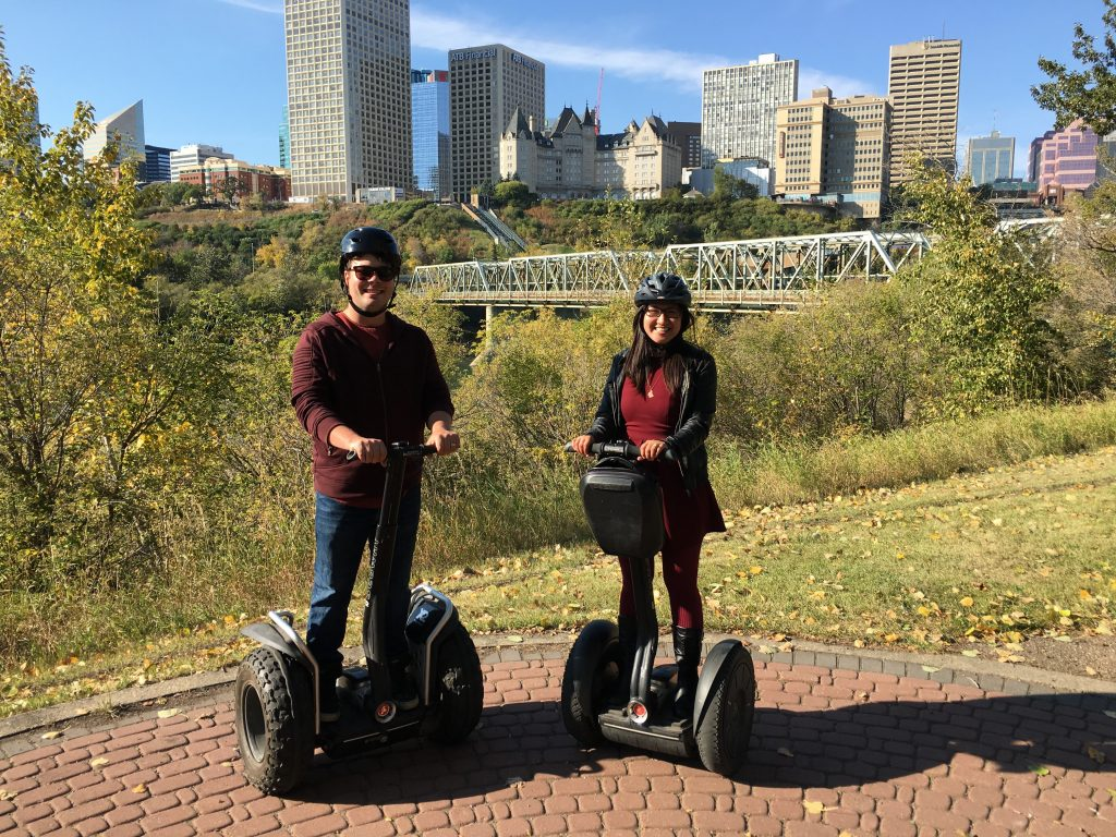 Explore Edmonton Travel Alberta River Valley Adventure Co Segway Tour