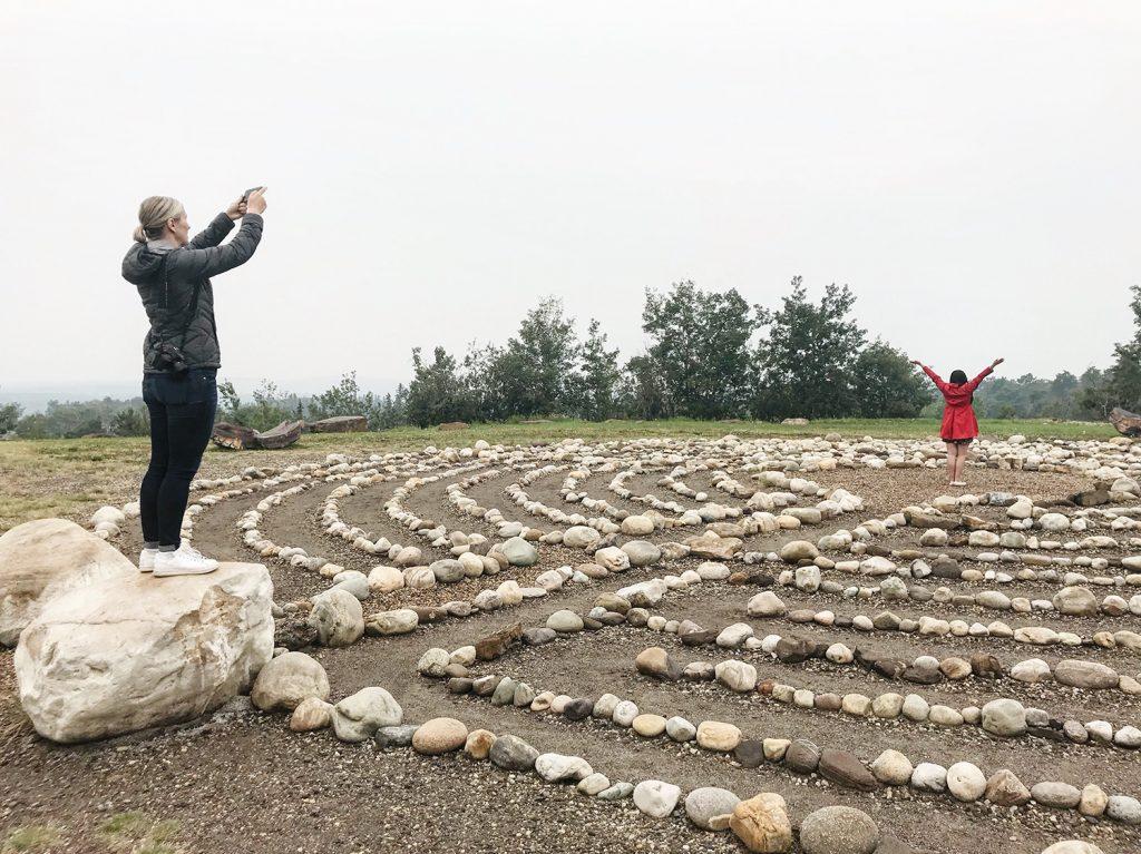 Grande Cache Explore Alberta Labyrinth Park Meditation Travel