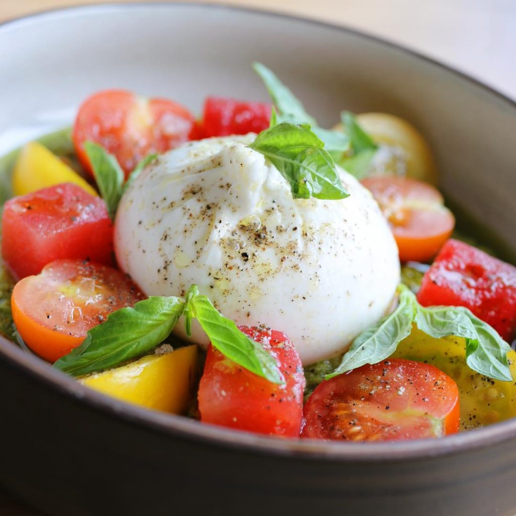 Tomato Burrata Salad Bread and Circus Trattoria Downtown Calgary Travel