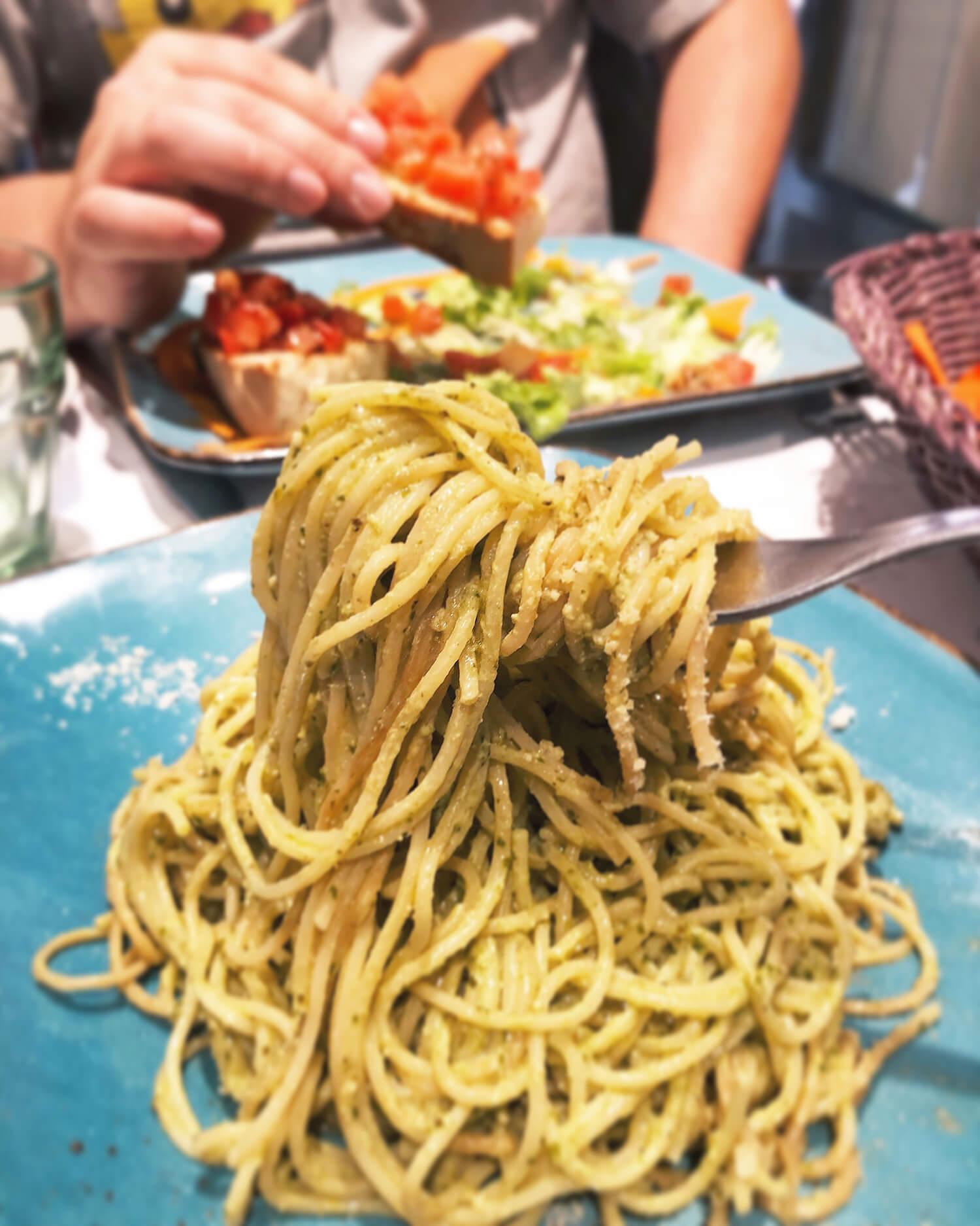 Cinque Terre Italy Five Villages Travel Food Liguria Region Pesto Pasta Bruschetta