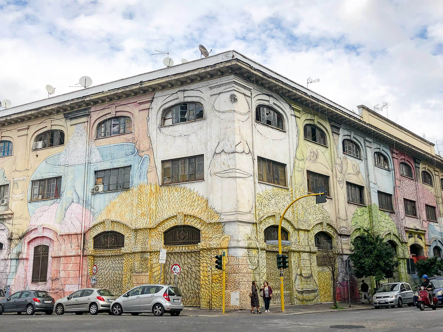 BLU street art Ostiense Explore Rome Travel Italy Instagrammable Walls Murals