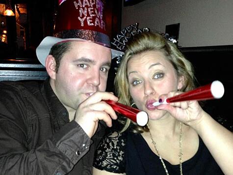 George & Amanda on New Year's Eve!