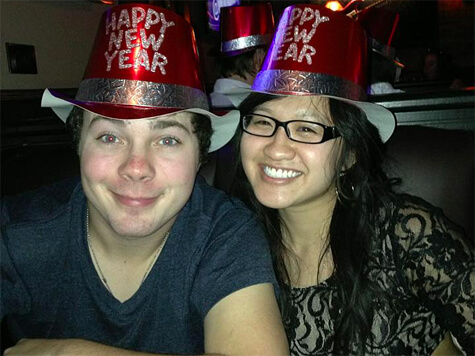 Mike and I on New Year's Eve!