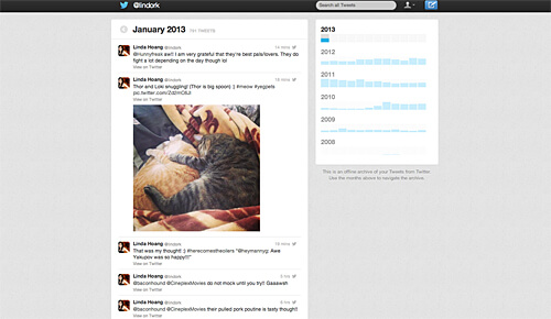 My Twitter archive!