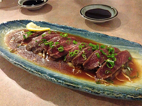 Beef (Gyu) Tataki at Yuzen ($9.50)