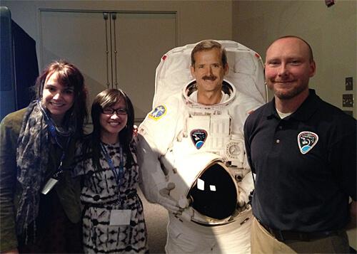 Rachel, me, Chris ;) and Mathieu Landry with the CSA!