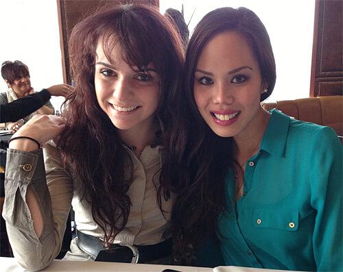 My lovely Rachel & Kathy!