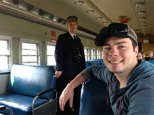 Conductor Steven shares some tidbits about the history of the Northern Alberta Railway.