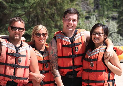 White water rafting in Jasper!