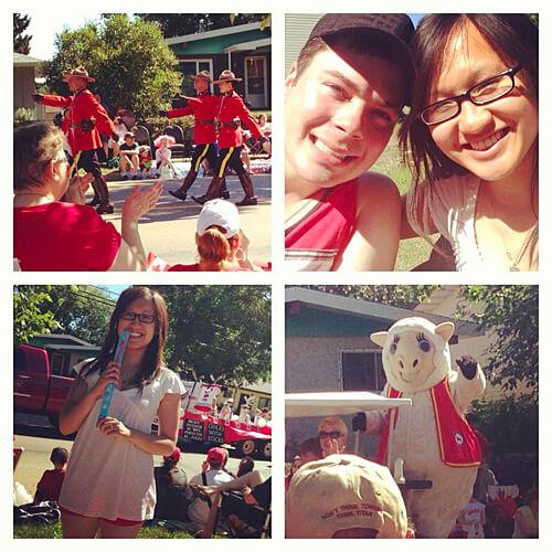 Fun Canada Day parade northeast of Edmonton in Fort Saskatchewan!
