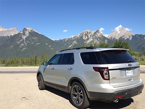 Exploring Alberta with the Ford Explorer Sport.