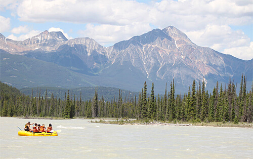 White water rafting down the Athabasca River in Jasper!