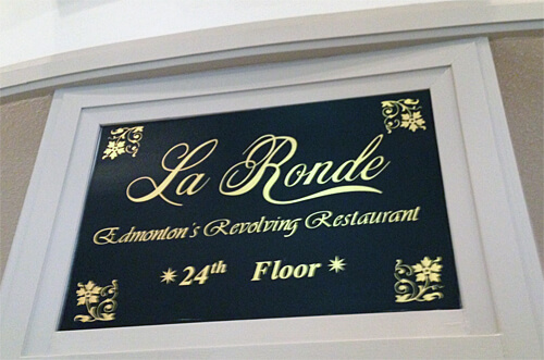 La Ronde Revolving Restaurant inside Crowne Plaza Chateau Lacombe Hotel downtown.