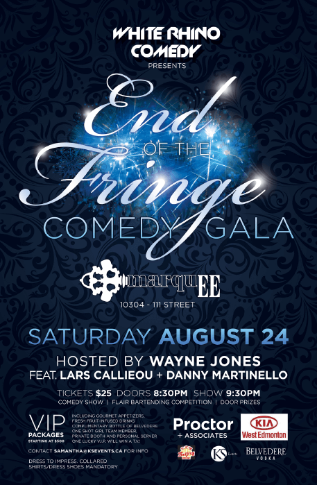 End of the Fringe Comedy Gala takes place Aug. 24 at Marquee Mansion